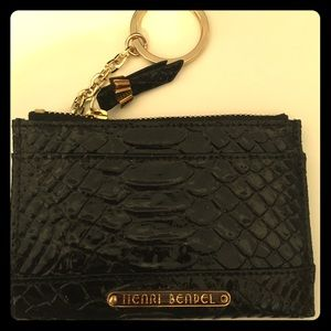Henri Bendel Black Mini ID Case